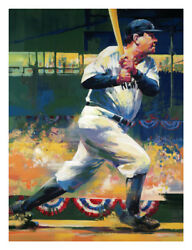 Malcolm Farley Babe Ruth Limited Edition On Canvas