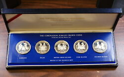 The Coronation Of The Queen 5 Silver Crown Coins