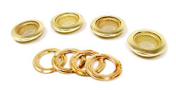 4pc. Beautiful Shiny 1 Brass Screened Grommets With Matching Washers