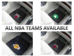 Brand New Set Of 2 Front And 2 Back Vinyl / Rubber Heavy Duty Nba Car Floor Mats