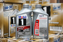 Special Sale!mobil 1 Racing 4t 10w40 Motorcycle Oil 6-quart 5.676 Liter