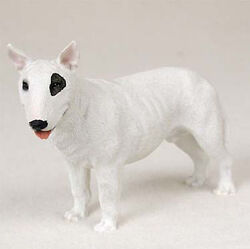 Bull Terrier Figurine Hand Painted Collectible Statue