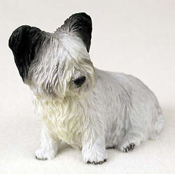 Skye Terrier Hand Painted Collectible Dog Figurine