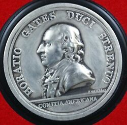 General Horatio Gates- Americaand039s First Medals- U.s.mint Pewter W/display Case