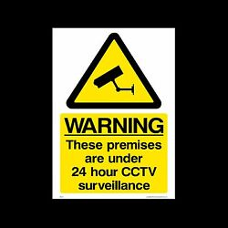 Cctv - 24hr Surveillance In Operation Signs And Sticker Free P+p All Sizes
