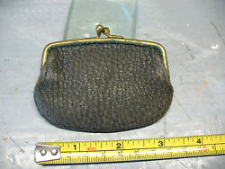 Antique Victorian Coin Purse - Leather And Brass Vg Undamaged Cond.