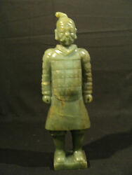 Fabulous Antique Hand Carved Chinese Jade Temple Guardian Figure