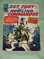 Sgt. Fury And His Howling Commandos 9 1964 Lee And Ayers Vg-fine Condition