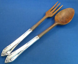 Dancing Flowers-reed And Barton Sterling Hh Salad Set