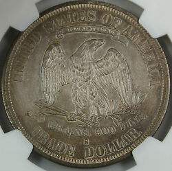 1878-s Trade Silver Dollar Ngc Au Details High End Coin Toned W/ Pl Surfaces