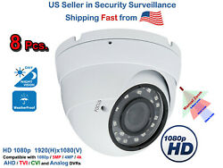 8x Manual Zoom 1080p Outdoor Day Night Vision Cctv Security Camera All Weather
