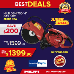 Hilti Gas Saw Dsh 700 14and039and039 Hand Held Brand New Original Box With One Blade