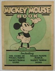 1930 Disney Mickey Mouse Book Extremely Rare FIRST EDITION FIRST ISSUE Bibo Lang