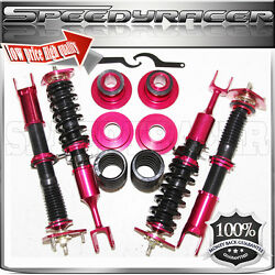Fit Infiniti G35 2003-2007 Coupe Model Coilover Suspension Kit Adj. Red