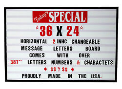 New Changeable Letters Window Message Menu Board Price Horizontal Sign Nib