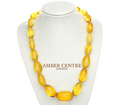 German Antique Genuine Baltic Amber Bead Necklace Large - A0009 - Rrpandpound4995