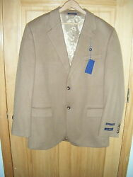 Mens Club Room Exclusively For Wool Silk Cashmere Sportcoat S 42r Nwtags