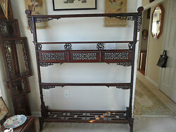 Genuine Antique Chinese Furniture Hand Carved Wood Clothing Rack(古衣架)