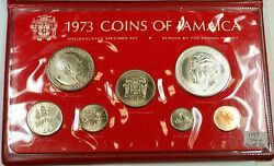 1973 Jamaica Uncirculated Specimen Set W/ Sterling Silver .925 5 Coin