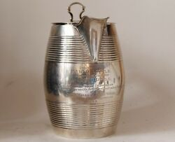 Large Antique Sterling Silver Georgian Beer Stein England C.1820