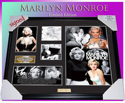 New Marilyn Monroe Memorabilia Signed Framed Limited Edition To 499 W/ C.o.a