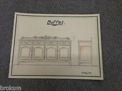 French School 1900 - Study Buffet French Style-architectural Furniture Drawing