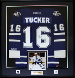 Darcy Tucker Toronto Maple Leafs Signed Jersey Nhl Hockey Collector Frame