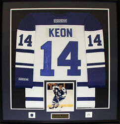 Dave Keon Toronto Maple Leafs Signed Jersey Nhl Hockey Collector Frame