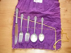 Crown Princess Sterling Silverware By Fine Arts Silver 1949 6 Settings Andextras