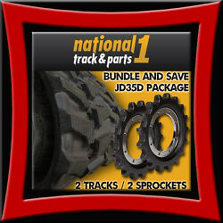 Bundle And Save John Deere 35d 2 Rubber Tracks And 2 Sprockets - 300x52.5x86