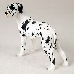 Great Dane Figurine Hand Painted Collectible Statue Harlequin Uncropped