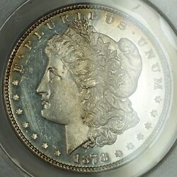 1878 7tf Morgan Silver Dollar Anacs Ms 60 Details Cleaned Hairlines Dmpl