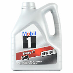 Mobil 1 Racing 4t 15w-50 Four-stroke Motorcycle Engine Oil 15w50 4 Litres 4l