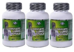 3x Nu-health Complete Lungs Formula 60 Veggie Capsules/bottle For Clear Lungs