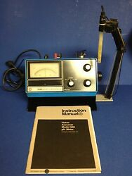 Fisher Accumet Model 600 Ph Meter 115v 0.15 Amp With Instruction Manual