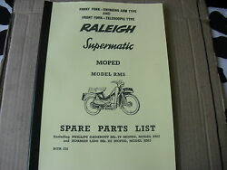 Raleigh Moped / Rm5 /supermatic/ Parts Book With Full Exploded Diagrams