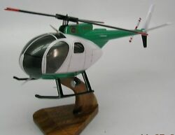 Oh-6a Cayuse Hughes Helicopter Wood Model Replica Small Free Shipping