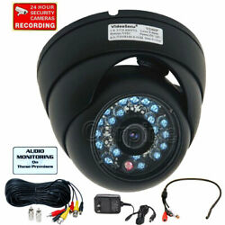 Security Dome Camera Wide Angle Ir Night Vision Ccd And Microphone Audio Cable Cf6