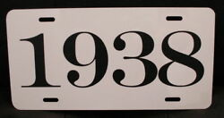 1938 Year License Plate Fits Chevy Ford Plymouth Dodge Mercury Buick Nash Hudson