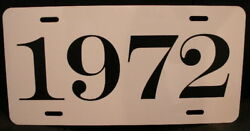 1972 License Plate Fits Cuda Challenger Dart Road Runner Charger Duster 340 R/t