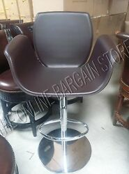 Frontgate Salerno Bar Height Stool Chocolate Leather Chair Modern 360 Swivel
