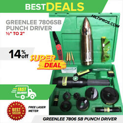 Greenlee 7806sb Hydraulic Punch Driver Kit 1/2 - 2, Preowned, A Lot Of Extra