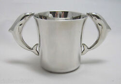 Stunning Sterling Silver Child Or Christening Cup - And Co New York Yr2000