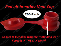 200-pack Red Vent Caps Fix Your Gas Can Glug Blitz Wedco Scepter Essence Midwest