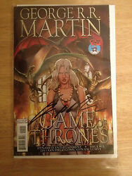 Sdcc Exclusive Signed George R.r. Martin Game Of Thrones Comic 15 Nm Hbo +pic