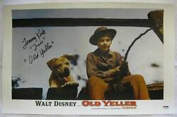 Tommy Kirk Signed Old Yeller Travis Autograph 11x17 Canvas Psa Dna Coa