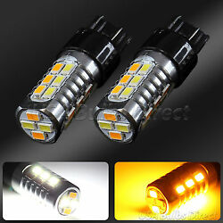 Samsung 3157 Dual Color Switchback High Power LED Turn Signal Corner Bulbs 2L