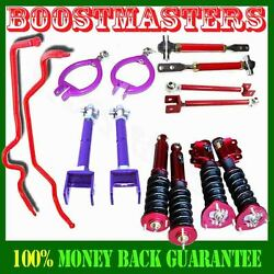 Fits 89-94 240sx S13 Adj Damper Coilover Andcamber Kits Tension Rod Andswaybar Emusa