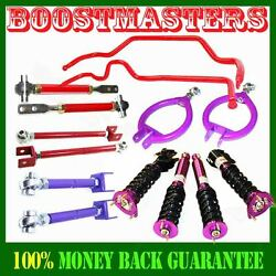 Non-adj Damper Coilover,camber Kits,tension Rod Andswaybar For 89-94 240sx S13 New
