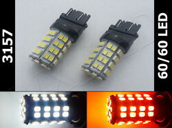 3157 3457 3047 3357 120 led chip 6060 white amber switchback turn signal type 2